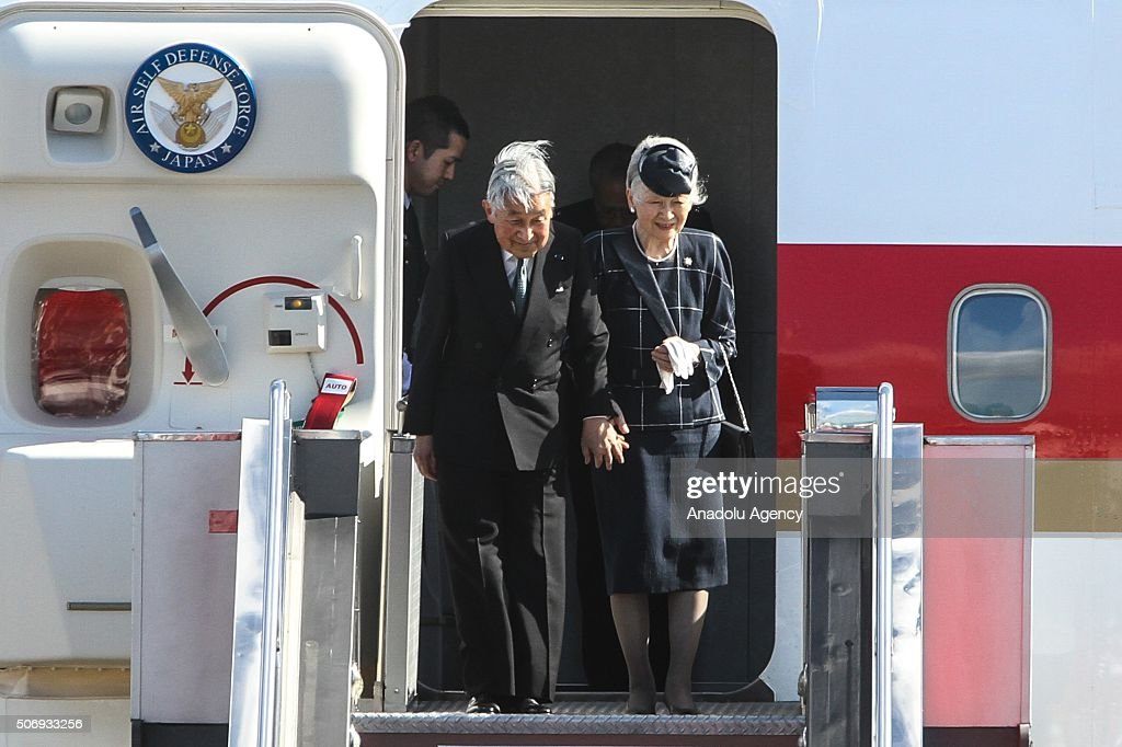 Japanese Emperor arrival in Philippines : News Photo