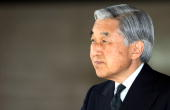 Japanese emperor akihito waits for the arrival of kazakhstan at picture id81627278?s=170x170
