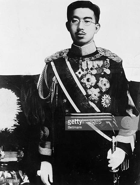 Japanese Emperor Hirohito in military uniform.