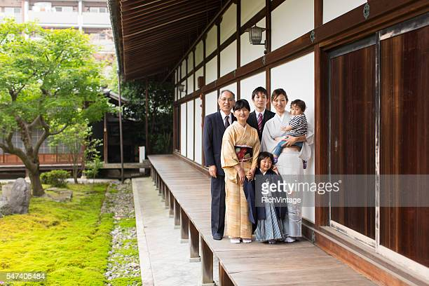Japanese Family at Chion-ji Temple Celebrating Shichigosan