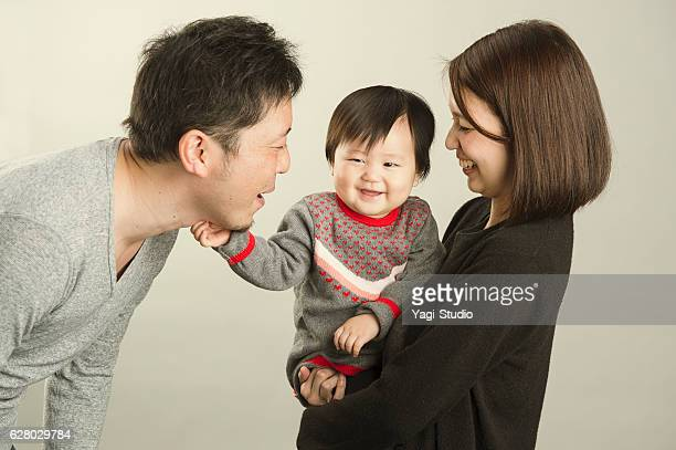 Japanese family  in studio shot