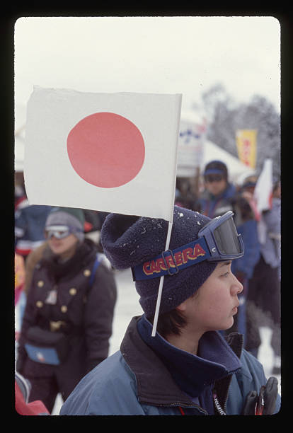 Japanese Fan at the Winter Olympics