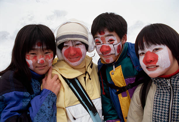 Japanese Fans at the Winter Olympics