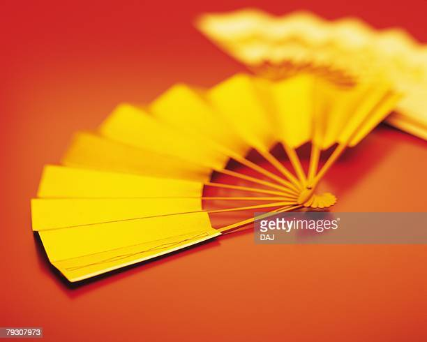 Japanese fans, Close Up, High Angle View, Toned Image, Differential Focus