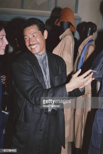 Japanese fashion designer Issey Miyake, 1987.