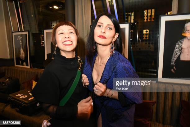 Japanese fashion designer Ken Okada and Sylvie Ortega Munos attend Ken Okada Fashion Show at Hotel W on December 8 2017 in Paris France