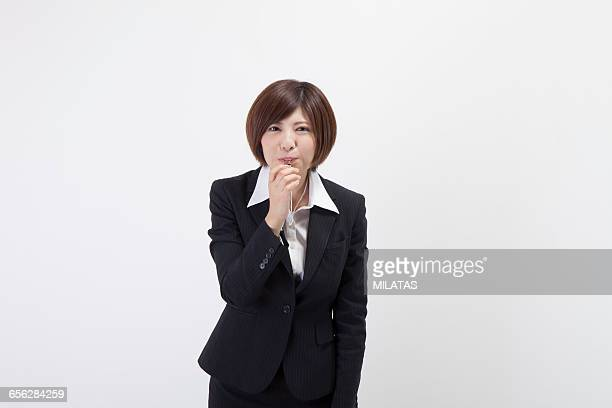 Japanese female company employee blows the whistle