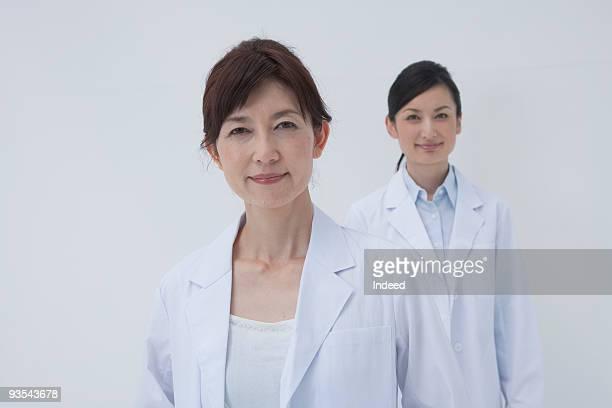 Japanese female doctors smiling, portrait