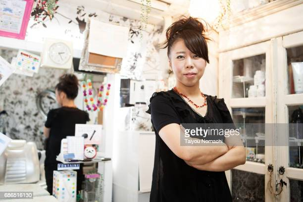 Japanese female hairdresser