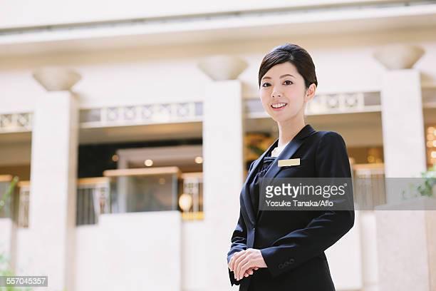 Japanese female hotel concierge