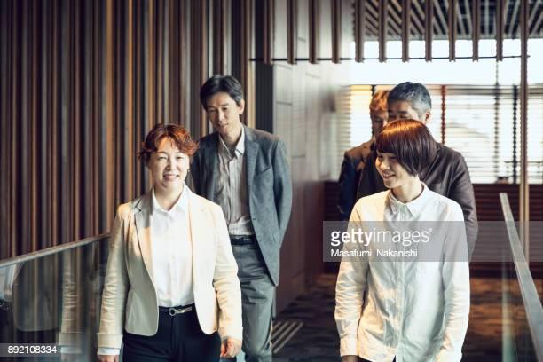 Japanese female leader and her team