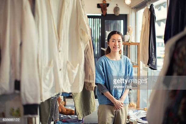 Japanese Female Resale Shop Owner in her Store