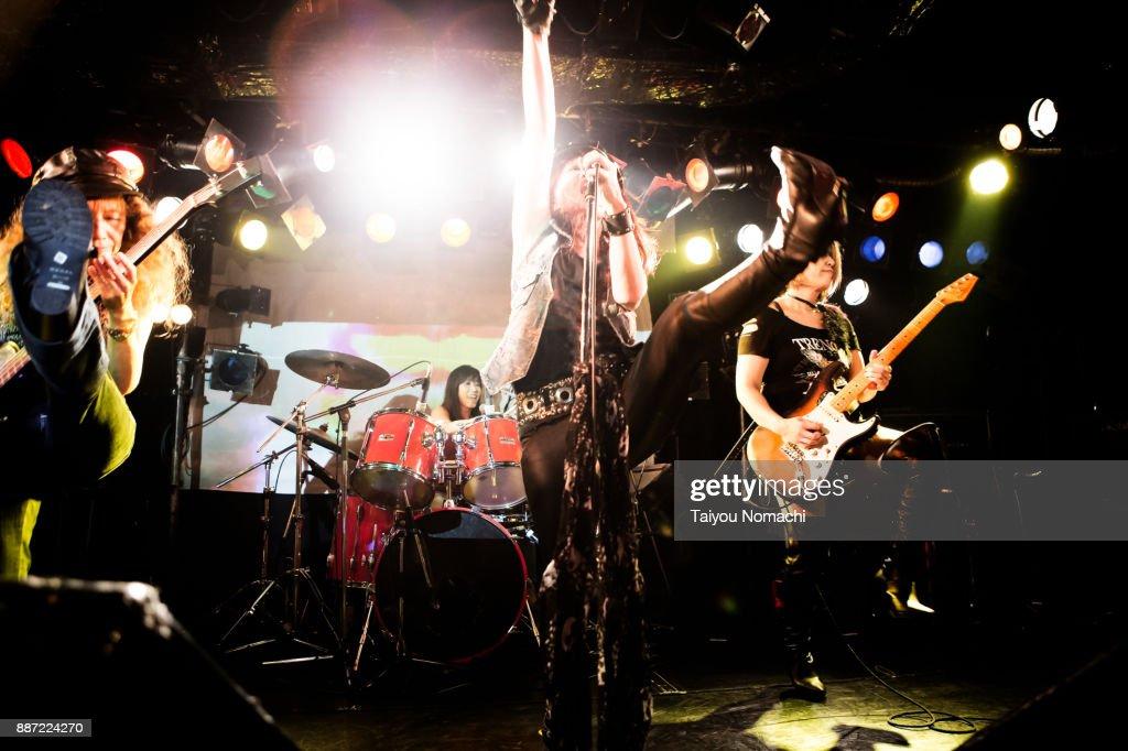 Japanese female rock band : Stock Photo