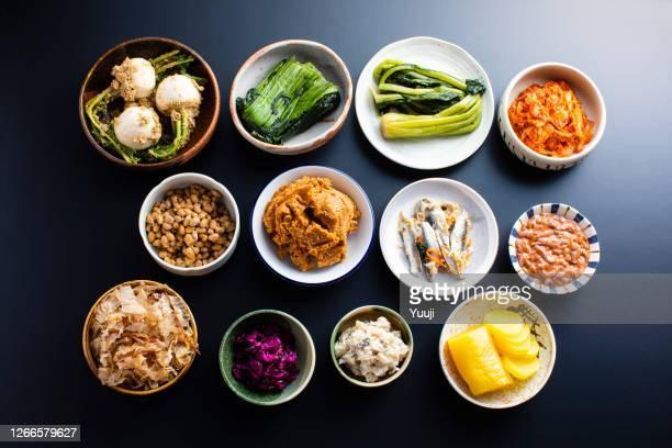 japans gefermenteerd voedsel - hartig voedsel stockfoto's en -beelden