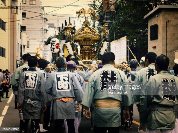 japanese festival - palanquin stock photos and pictures