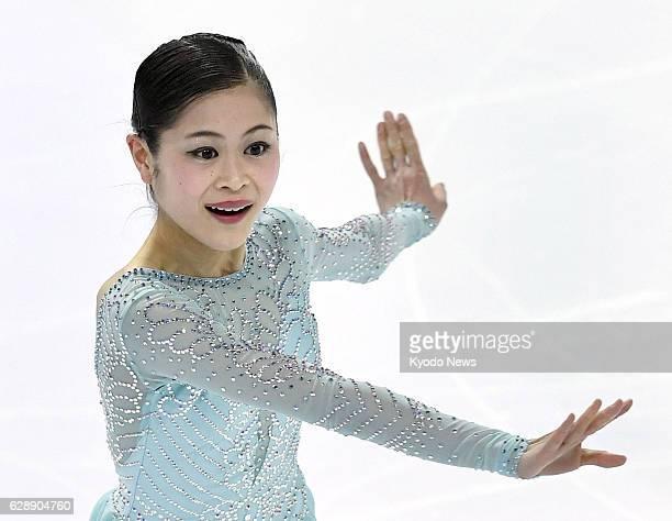 Japanese figure skater Satoko Miyahara performs during the women's short program at the Grand Prix Final in Marseille France on Dec 9 2016 Miyahara...