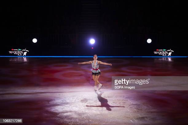 Japanese figure skater Youka Sato seen performing on ice during the show Revolution on Ice Tour show is a spectacle of figure skating on ice with an...