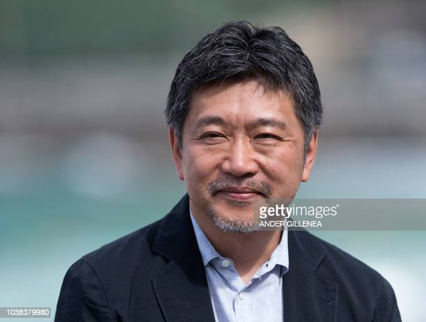 Japanese film director Hirokazu Koreeda poses during a photocall a few hours before receiving the Donostia Award in recognition of his prestigious...