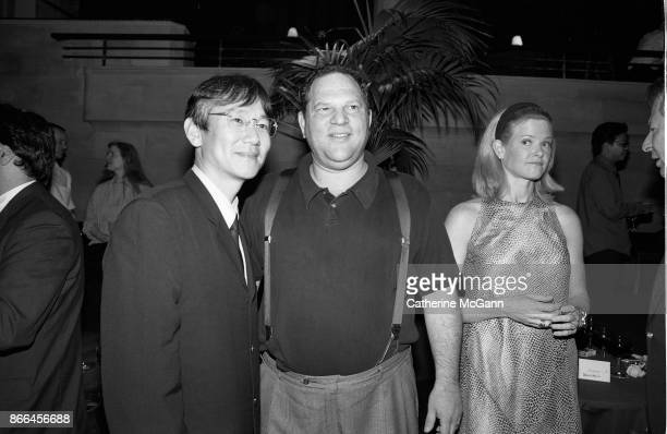 Japanese film director Masayuki Suo and Harvey Weinstein pose for a portrait in July 1997 in New York City New York