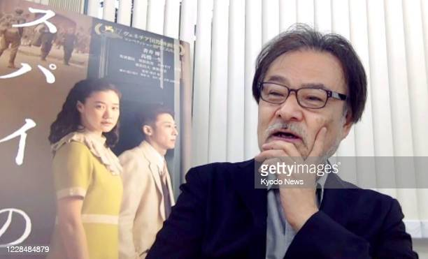 Japanese filmmaker Kiyoshi Kurosawa holds an online press conference from Tokyo on Sept 13 after winning the best director award for Wife of a Spy at...
