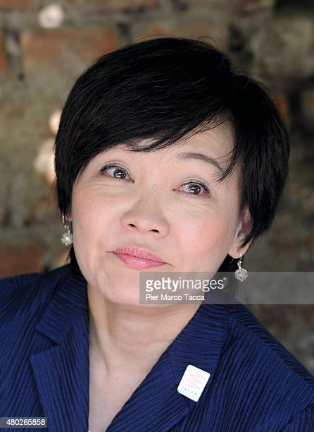 Japanese First lady Akie Abe attends the Japan night at Cascina Cuccagna on July 10 2015 in Milan Italy