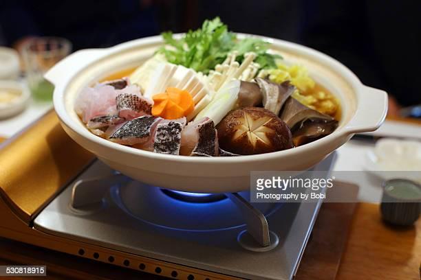 Japanese fish hot pot