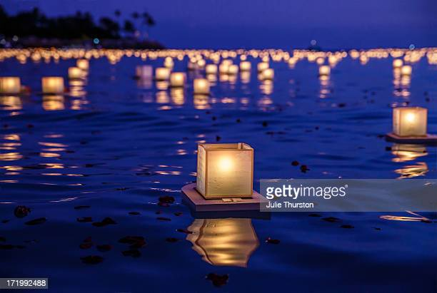 Japanese floating lanterns
