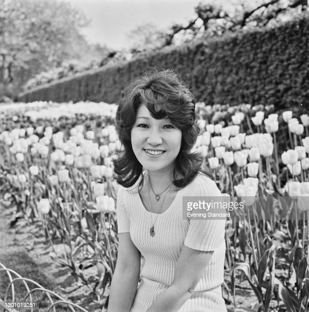 Japanese folk singer Ryoko Moriyama, UK, 19th May 1973.