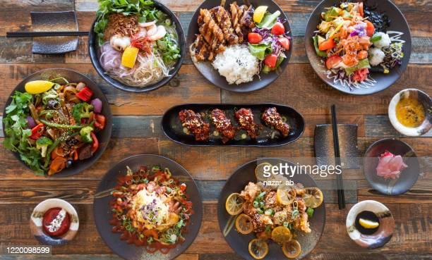 日本の食べ物の背景。 - 韓国料理 ストックフォトと画像
