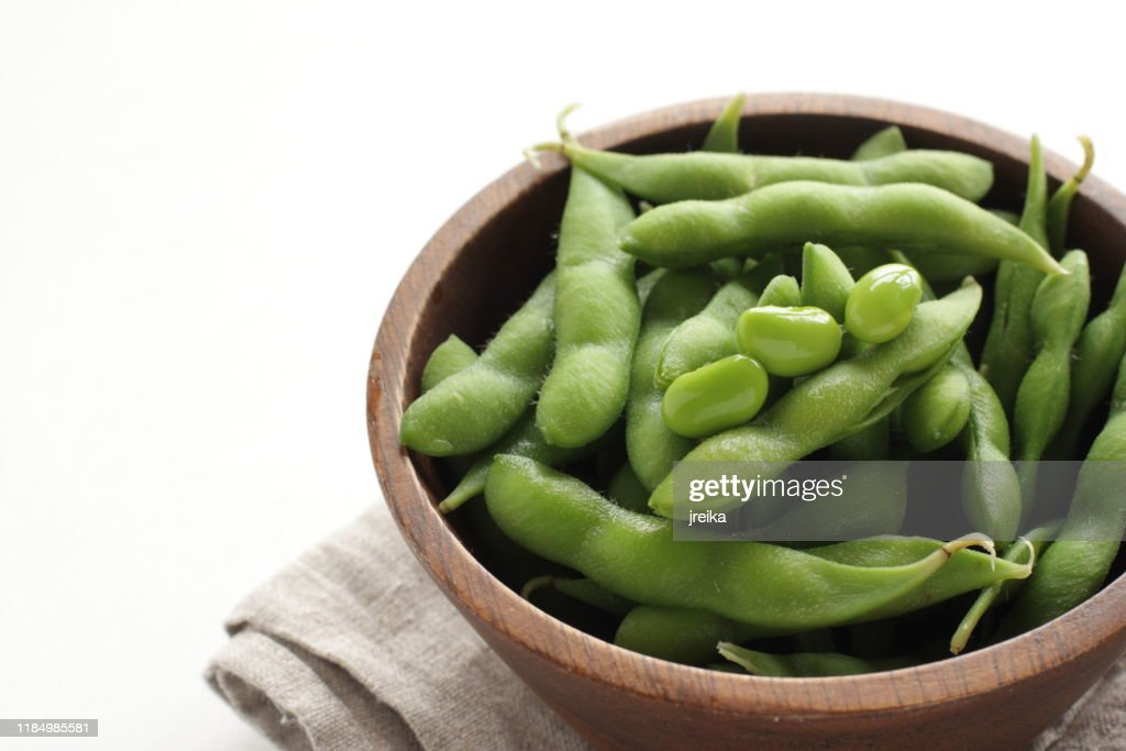 Japanese food, boiled soy bean in bowl for healthy eating : Stock Photo