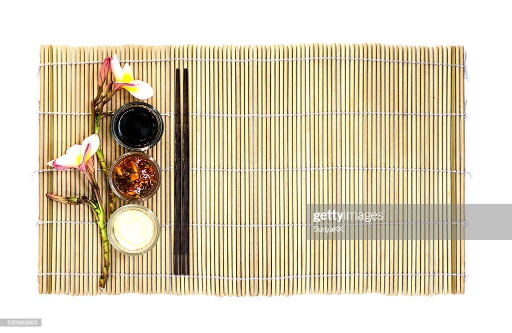 Japanese food empty dish : Stock Photo