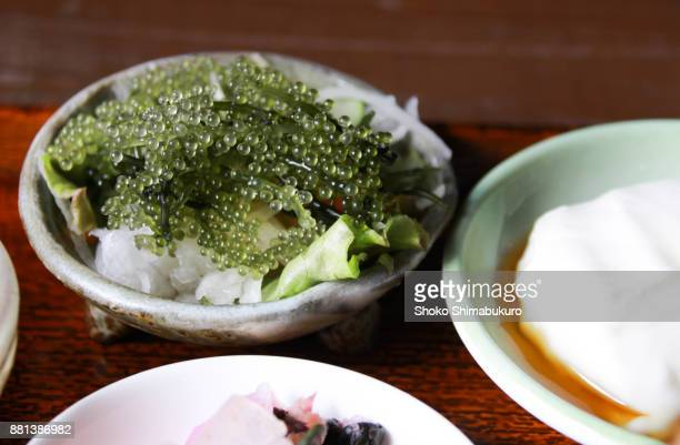 japanese food from okinawa - okinawa prefecture stock pictures, royalty-free photos & images