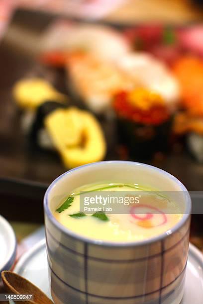 japanese food - chawanmushi stock pictures, royalty-free photos & images