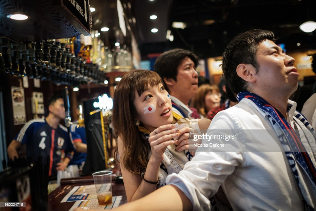 Japanese Watch World Cup Match Against Colombia