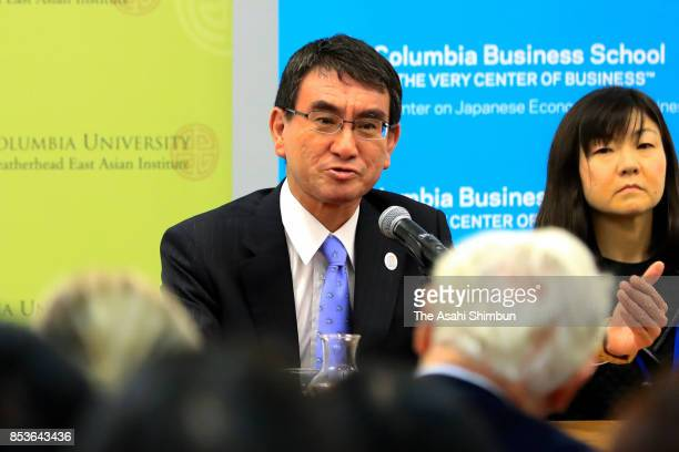 Japanese Foreign Minister Taro Kono Addresses At Columbia