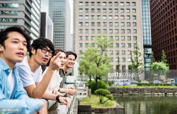 日本のご友人とご一緒に、東京で幸福