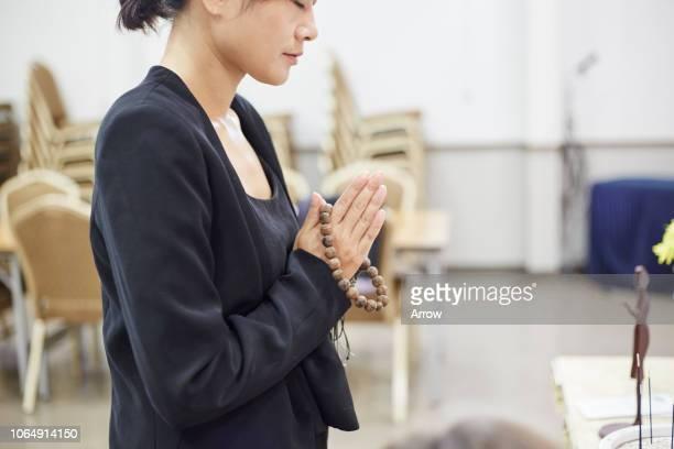 japanese funeral ceremony - 葬儀 ストックフォトと画像