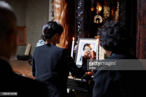 japanese funeral ceremony - mourning stock pictures, royalty-free photos & images