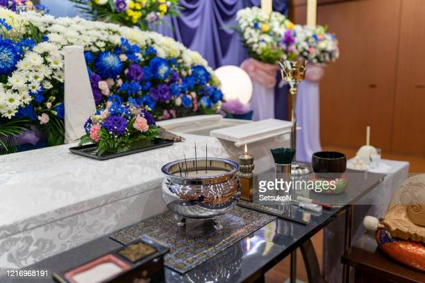 japanese funeral ceremony - cremation stock pictures, royalty-free photos & images