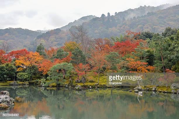 Japanese Garden at the Tenryuji Temple in Kyoto, Japan