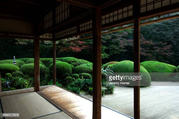 japanese garden in kyoto - jeremy chan stock pictures, royalty-free photos & images