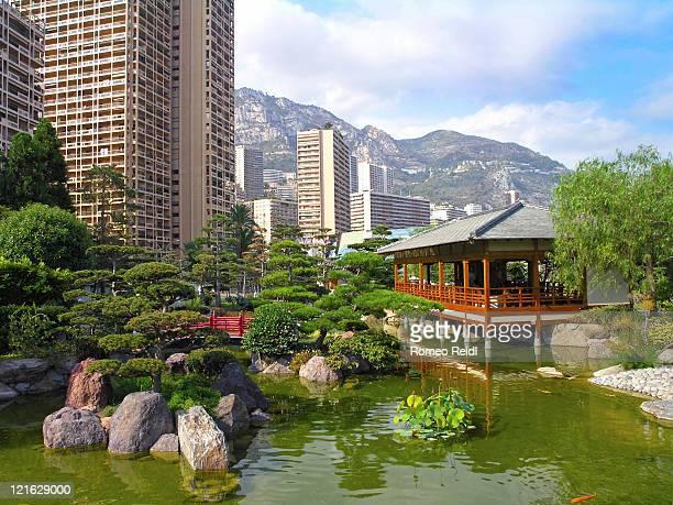 japanese garden, monaco - monaco stock pictures, royalty-free photos & images