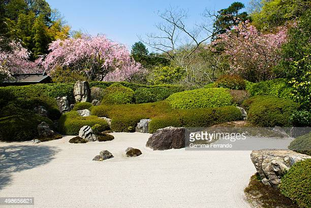 Japanese gardens are traditional gardens that create miniature idealized landscapes, often in a highly abstract and stylized way.