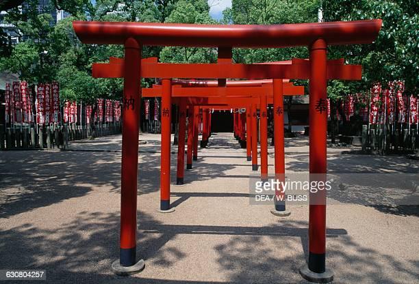 Japanese gate to Minatogawa shrine Chuoku Kobe Kansai Japan