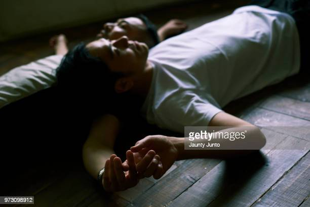 Japanese gay couple portrait, a day of life