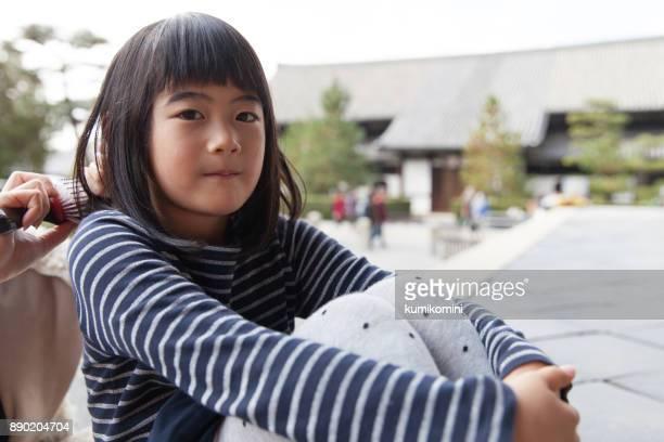 Japanese girl relaxing
