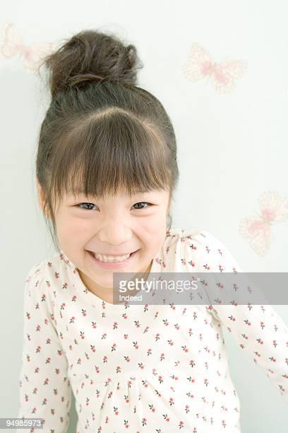 Japanese girl smiling, portrait