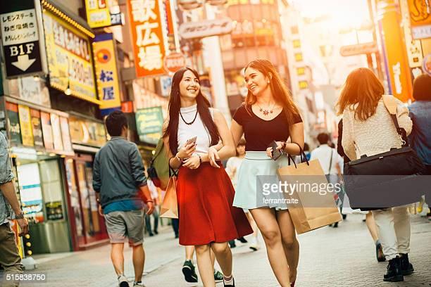 Japonais amies boutiques de Shibuya à Tokyo