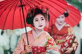 Japanese girls in Kimonos