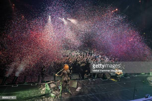 Japanese glam metal group X Japan performing live on stage at the SSE Wembley Arena in London on March 4 2017